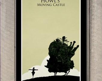 Hayao Miyazaki poster - Howl's Moving Castle