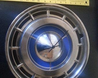 Retro Hubcap Clock