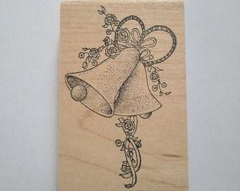 Wedding Bells Rubber Stamp - 114M03