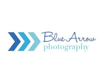 Premade Personalized Photography Arrow Logo