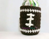 Football Can Koozie, Crochet Can Cozy, Beer Koozie