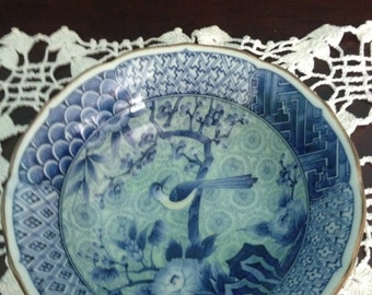 Japanese Andrea Blue & White Bowl