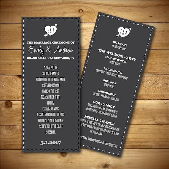 items similar to printable wedding program template chalk fan program grey white instant. Black Bedroom Furniture Sets. Home Design Ideas