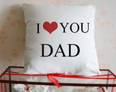 Custom I love you DAD pillow case,unique father's day gift pillowcase,Linen cotton pillow cover,personalized throw pillow set,gift idea