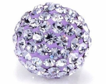 High Quality 10PCS 12MM Crystal stones Loose Spacer Bead Pave Disco Ball Rhinestone Beads Fit DIY Bracelets Necklaces Rings