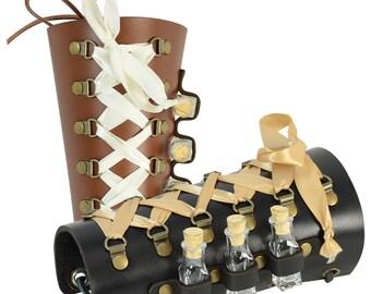 Ladies Steampunk Bracer with Vials - Steampunk Arm Bracer / Cuff - #DK6074