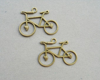 50 Pcs Antique Bronze Bicycle Charm & Pendant Tibetan Style Jewelry Findings 22mmx30mm