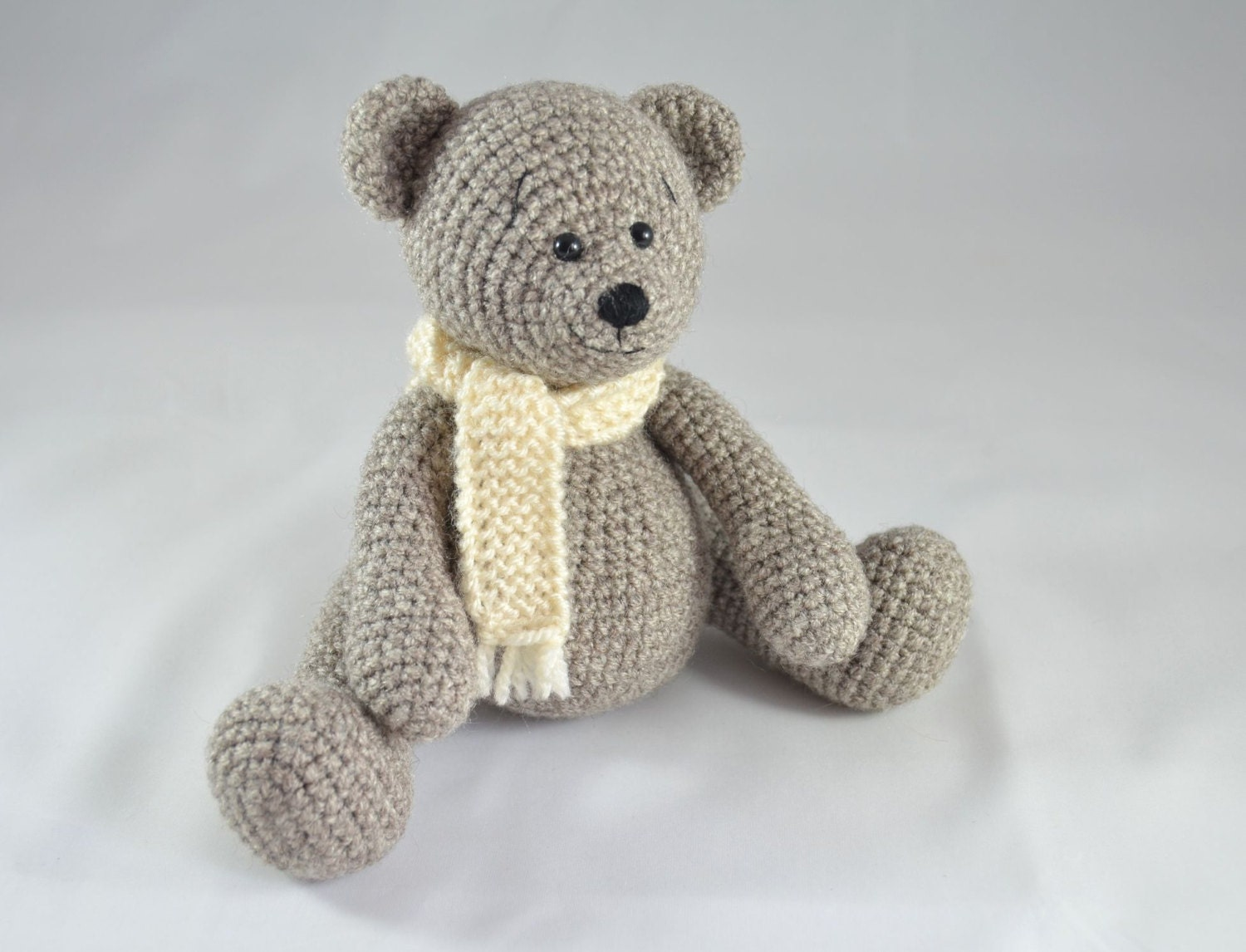 Amigurumi Little Teddy Bear : crochet amigurumi bear toy little teddy with white scarf