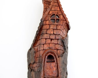 Alaskan Cottonwood Bark House Carving