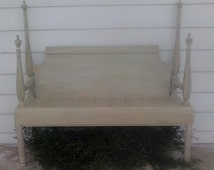 SOLD~ Distressed French Country Bench ~ Repurposed Furniture ~ Cottage Chic Bench ~ One of a kind Furniture ~ Uniquely Beautifu