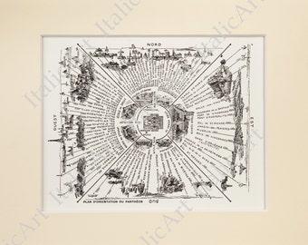 City of Paris. Reproduction Map Print of 1899 - Pantheon