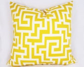 Maze Yellow - Outdoor Pillow Cushion Cover - Accent Pillow - Throw Pillow - Indoor Outdoor
