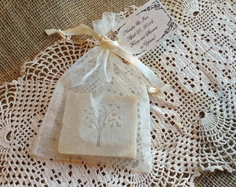Wedding Soap Favors,  Bridal, or Baby Shower favors - 30 Custom Handmade