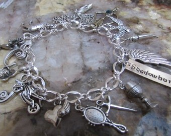 Sale The Mortal Instruments Shadowhunters Loaded Charm Bracelet Clary Jace Alec Vampires Werewolves Faeries