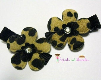 Set of Leopard Print Hair Clips