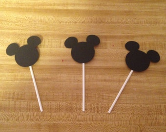 Set of 12 Mickey Cupcake Toppers