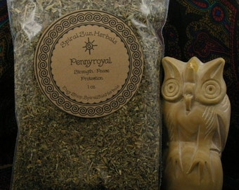 Pennyroyal, 1 oz Penny Royal dried herb, Protection spell, strength and grounding, peaceful energy, safety, home protection, negative energy