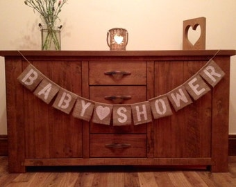 Baby Shower Bunting Vintage Style New Born Party Decoration