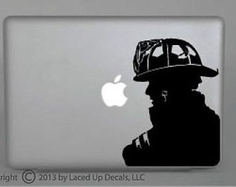Firefighter vinyl decal small © 2013 Laced Up Decals SKU:Firefighter vinyl decal small