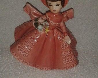 Lefton Figurine - Girl in Pink - 4227