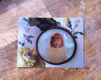 map postcard little girl of the framework