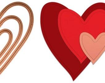 Creatopia Heart Shapez Die set by Spellbinders™