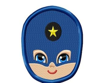 Super Hero Face 3 Applique Machine Embroidery DESIGN NO. 58