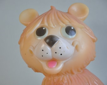 Soviet Rubber Toy, Rubber Bear, Baby Bath Toy Big Rubber Bear 1980s. Made in USSR Collectible