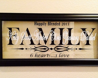 2nd Marriage, Blended Family,Gift,P ersonalized Name Decorative ...
