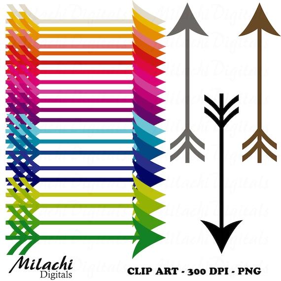 Rainbow Arrows Digital Clip Art Commercial Use by ...