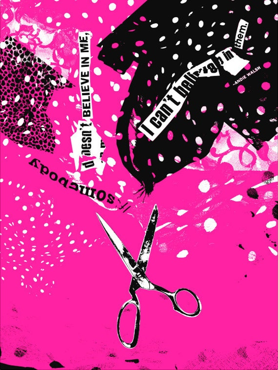 Pretty In Pink alternative movie poster by Woodie AndersonPretty In Pink Poster