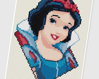 PDF Cross Stitch pattern - 0288.Snow White ( Snow White and the Seven Dwarfs ) - INSTANT DOWNLOAD