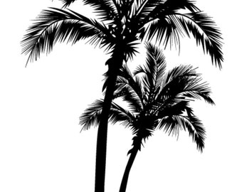 beach palm tree  vinyl decal/sticker