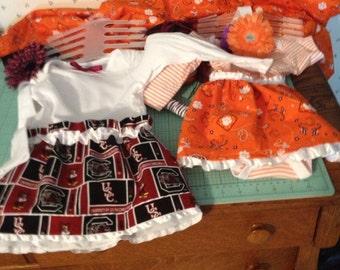 Clemson  and carolina dresses