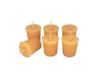 12 Bone Buff Classic Hand-poured Unscented Votive Candles