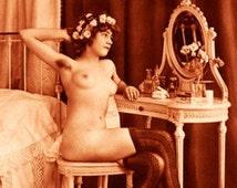 """Vintage Risque Nude Exotic - Boudoir #003 Canvas Art Poster 16"""" x 24"""""""