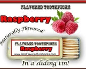 Red Raspberry Flavored Toothpicks - 70+ Flavors! Seed Oil, gifts under 10, 15, 20, 25, Candy, Fruit, Pi, Pie, Matron Honor Gifts Unique