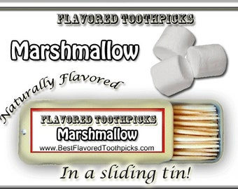 Marshmallow Flavored Toothpicks - 70+ Flavors! Marshmellow, Gourmet Marshmellows, Gourmet Marshmallows, Marshmallow Peeps, Candy, Gifts