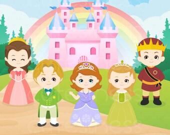 Princess Digital Clipart, Princess Clipart, Royal family clipart