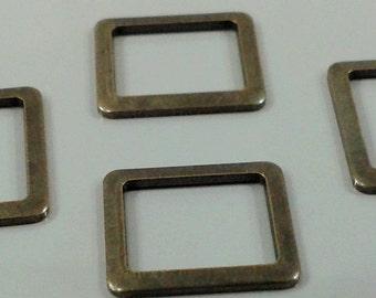 50 Pcs Antique Bronze 9 x11 mm Square  Findings