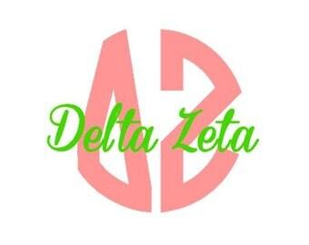 Delta Zeta Vinyl Sticker