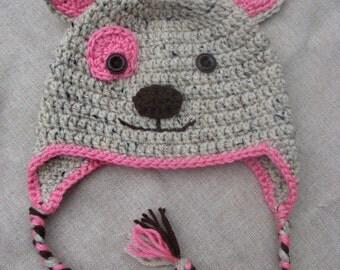 Pink Puppy Hat