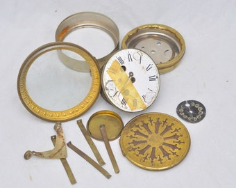 Antique French Pendulum Clock for parts...,Marked RC