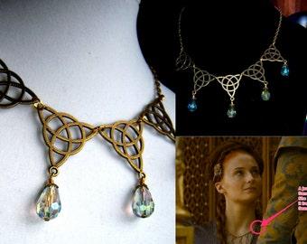 Game of Thrones Sansa Stark Purple Wedding Poison Necklace crystals necklace bib Renaissance Medieval Fanasy Wedding Prom Fantasy Elven
