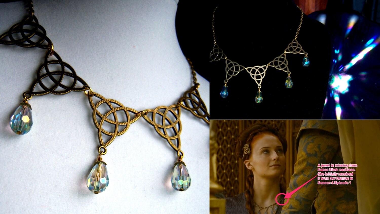 Game Of Thrones Sansa Stark Purple Wedding Poison Necklace