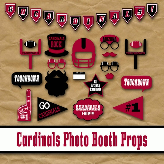 Arizona Cardinals Football Printable Photo Booth Props