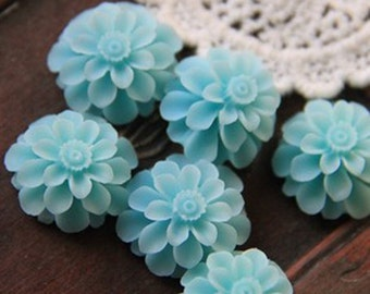 2pcs  Resin flower cabochon for Pendant Charm Craft Jewelry.