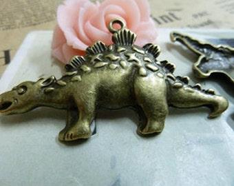 10pcs  Antique Bronze Lovely Dinosaur Charms Pendant. c1706-1