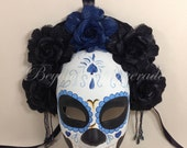 Day of the Dead Mask Collection - Women's  Full Face Masquerade Halloween  Mask to Wear or Wall Display Decoration