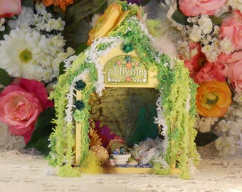 Fairy House, Cottage, Fairy Garden, Door Miniatures, Fantasy, Mythical, Elves, Gnomes, Hobbits, Fairies, Faeries, Fae, Mother's Day Gifts